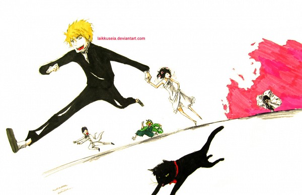 Tags: Anime, BLEACH, Kuchiki Byakuya, Shihouin Yoruichi (Cat), Shihouin Yoruichi, Ishida Uryuu, Kuchiki Rukia, Urahara Kisuke, Kurosaki Ichigo, deviantART, Gotei 13