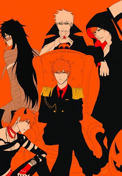 Tags: Anime, DivineImmortality, BLEACH, Kurosaki Ichigo, Hollow Ichigo, Mummy, Vampire Costume, Mugetsu (BLEACH), deviantART, Fanart, Mobile Wallpaper