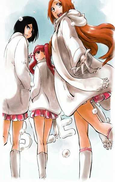 Tags: Anime, aMuteMaiden, BLEACH, Kuchiki Rukia, Dokugamine Riruka, Inoue Orihime, BLEACH: After Timeskip, Fanart From DeviantART, Fanart, Mobile Wallpaper, deviantART