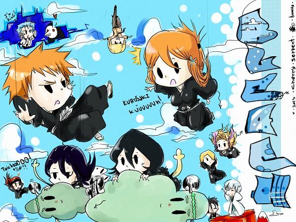 Tags: Anime, Cherryserpent, BLEACH, Inoue Orihime, Menos Grande, Hisagi Shuuhei, Kuchiki Rukia, Seaweed Ambassador, Ichimaru Gin, Abarai Renji, Hirako Shinji, Kuchiki Byakuya, Kurosaki Ichigo