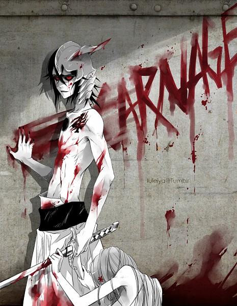 Tags: Anime, Luleiya, BLEACH, Inoue Orihime, Ulquiorra Schiffer, Shun Shun Rikka (Pin), Graffiti, deviantART
