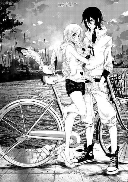 Tags: Anime, Luleiya, BLEACH, Ulquiorra Schiffer, Inoue Orihime, Shun Shun Rikka (Pin), Converse, Mobile Wallpaper, Fanart From Pixiv, Pixiv, Fanart, UlquiHime