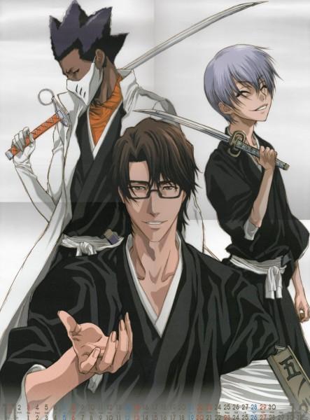 Tags: Anime, Studio Pierrot, BLEACH 2009 Calendar, BLEACH, Aizen Sousuke, Ichimaru Gin, Tousen Kaname, Official Art, Scan, Calendar (Source), Calendar 2009, Gotei 13