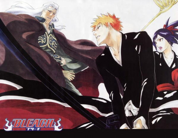 Tags: Anime, Kubo Tite, BLEACH: Memories of Nobody, BLEACH, Ganryuu, Senna, Kurosaki Ichigo, Official Art