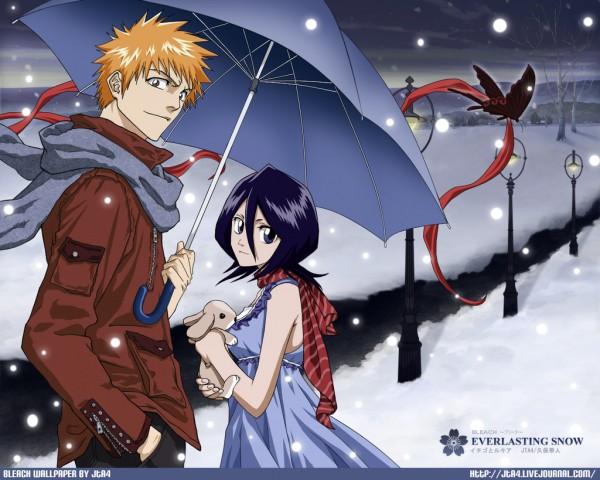 Tags: Anime, BLEACH, Kurosaki Ichigo, Kuchiki Rukia, Wallpaper, IchiRuki