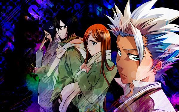 Tags: Anime, BLEACH, Ulquiorra Schiffer, Hitsugaya Toushirou, Ishida Uryuu, Inoue Orihime, Wallpaper, Gotei 13, Espada