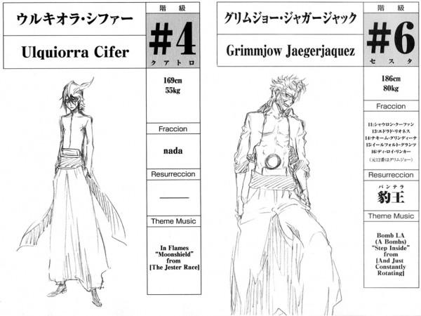 Tags: Anime, Kubo Tite, BLEACH, Ulquiorra Schiffer, Grimmjow Jeagerjaques, Arrancar Clothes, Arrancar