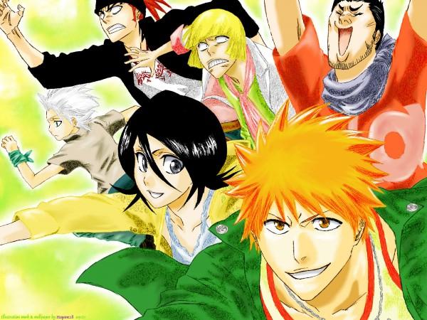 Tags: Anime, BLEACH, Hirako Shinji, Kurosaki Ichigo, Hitsugaya Toushirou, Kuchiki Rukia, Kurosaki Isshin, Abarai Renji, Wallpaper, Gotei 13