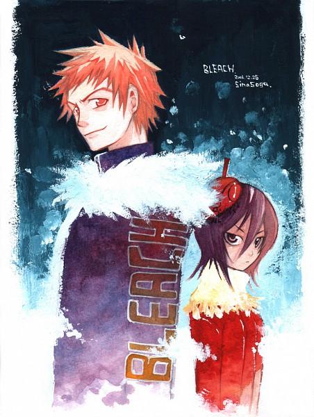 Tags: Anime, Pixiv Id 527023, BLEACH, Kuchiki Rukia, Kurosaki Ichigo, Gotei 13