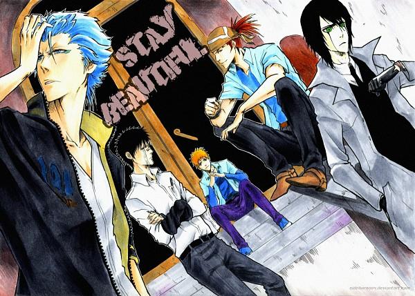 Tags: Anime, Sideburn004, BLEACH, Abarai Renji, Kurosaki Ichigo, Grimmjow Jeagerjaques, Hisagi Shuuhei, Ulquiorra Schiffer, Fanart, Espada, Gotei 13