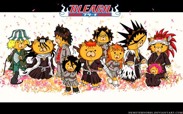 """Tags: Anime, BLEACH, Abarai Renji, Kuchiki Byakuya, Kurosaki Ichigo, Shihouin Yoruichi, Kon (BLEACH), Ishida Uryuu, Zaraki Kenpachi, Urahara Kisuke, Yasutora """"Chad"""" Sado, Kuchiki Rukia, Kusajishi Yachiru"""