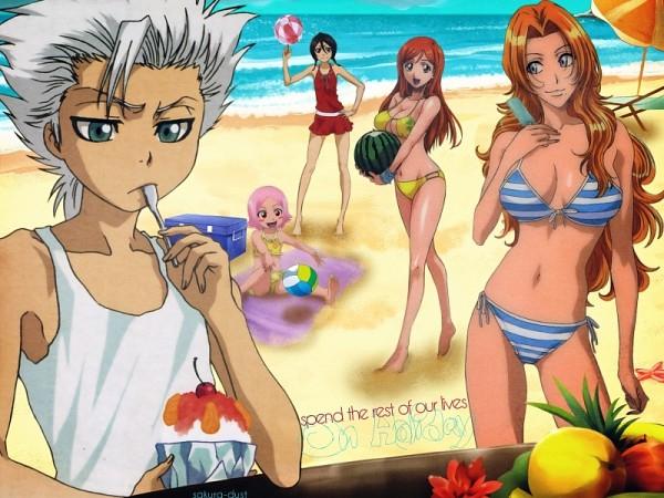 Tags: Anime, BLEACH, Matsumoto Rangiku, Inoue Orihime, Kusajishi Yachiru, Kuchiki Rukia, Hitsugaya Toushirou, Gotei 13, 11th Squad