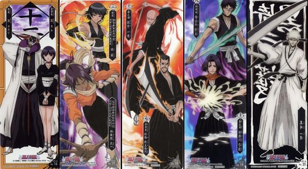 Tags: Anime, BLEACH, Kurotsuchi Mayuri, Shihouin Yoruichi, Suì-Fēng, Kurotsuchi Nemu, Hisagi Shuuhei, Tetsuzaemon Iba, Ayasegawa Yumichika, Hollow Ichigo, Madarame Ikkaku, Card (Source), Facebook Cover