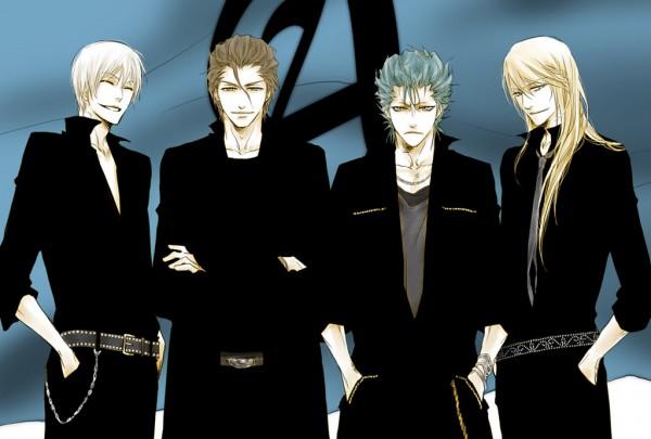 Tags: Anime, Kitamura Koume, BLEACH, Aizen Sousuke, Grimmjow Jeagerjaques, Ichimaru Gin, Ylfordt Granz, Chain Belt, Espada, Gotei 13, Arrancar