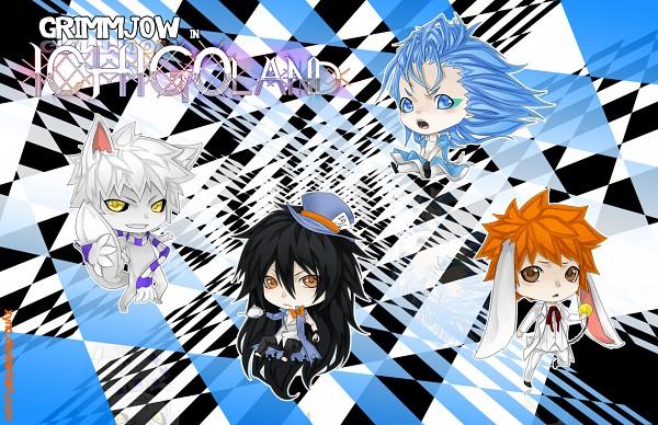 Tags: Anime, BLEACH, Grimmjow Jeagerjaques, Kurosaki Ichigo, Hollow Ichigo, Mugetsu (BLEACH), Espada