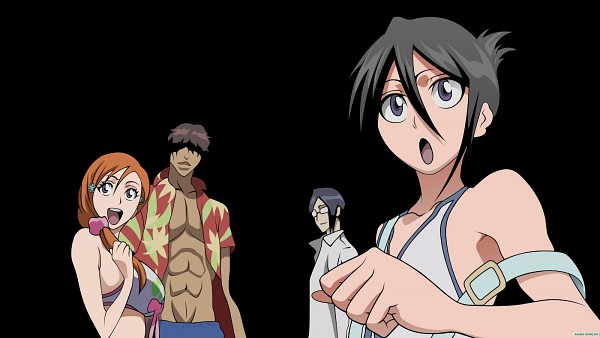 "Tags: Anime, BLEACH, Kuchiki Rukia, Ishida Uryuu, Yasutora ""Chad"" Sado, Inoue Orihime, HD Wallpaper, Wallpaper, Gotei 13"