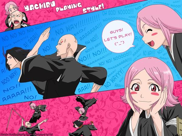 Tags: Anime, BLEACH, Kusajishi Yachiru, Ayasegawa Yumichika, Madarame Ikkaku, Wallpaper, Gotei 13, 11th Squad
