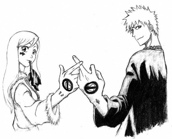Tags: Anime, BLEACH, Inoue Orihime, Kurosaki Ichigo, deviantART