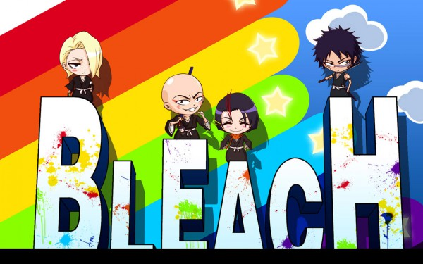 Tags: Anime, BLEACH, Ayasegawa Yumichika, Madarame Ikkaku, Kira Izuru, Hisagi Shuuhei, Wallpaper, Gotei 13, 11th Squad