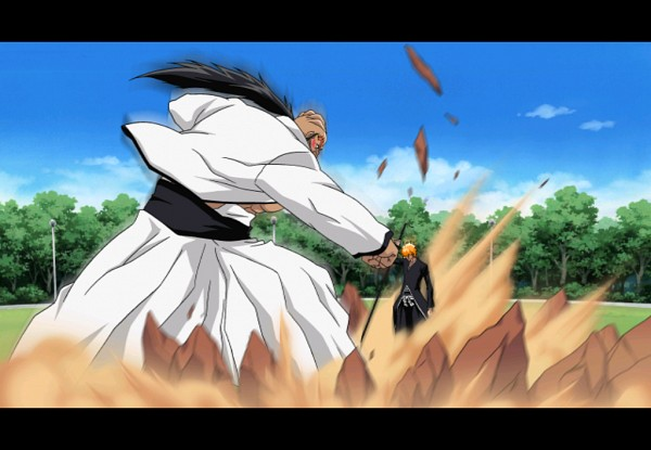 Tags: Anime, BLEACH, Kurosaki Ichigo, Yammy Riyalgo, Bankai, Arrancar Clothes, Screenshot, Zanpakutou, Espada