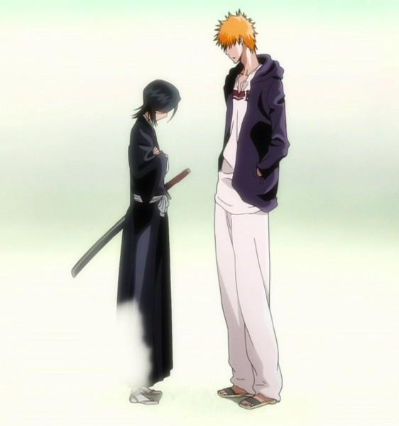 Tags: Anime, Studio Pierrot, BLEACH, Kuchiki Rukia, Kurosaki Ichigo, Disappearing, Screenshot, IchiRuki