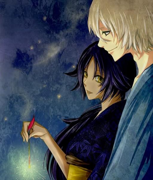 Tags: Anime, Yushiba Miyabi, BLEACH, Urahara Kisuke, Shihouin Yoruichi, UraYoru