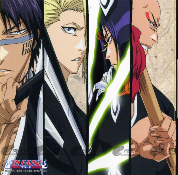 Tags: Anime, Kubo Tite, BLEACH, Ayasegawa Yumichika, Madarame Ikkaku, Kira Izuru, Hisagi Shuuhei, Gotei 13, 11th Squad