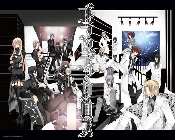 Tags: Anime, SQUARE ENIX, BLOODY CROSS, Tsuzuki (BLOODY CROSS), Satsuki (BLOODY CROSS), Tokiwa (BLOODY CROSS), Momose (BLOODY CROSS), Ichikawa (BLOODY CROSS), Tsukimiya (BLOODY CROSS), Hanamura (BLOODY CROSS), Hinata (BLOODY CROSS), Wallpaper, Official Art