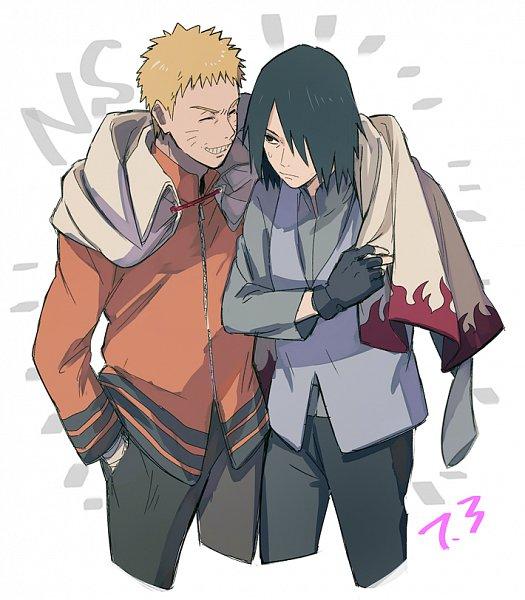 Tags: Anime, Pixiv Id 2455706, BORUTO: Naruto Next Generations, NARUTO, Uchiha Sasuke, Uzumaki Naruto, Hokage Outfit, Fanart From Pixiv, Fanart, Pixiv, NaruSasu