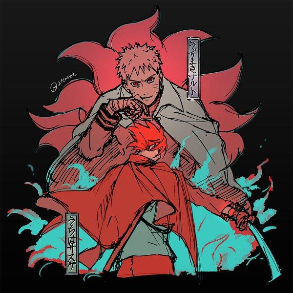 Tags: Anime, Pixiv Id 2455706, BORUTO: Naruto Next Generations, NARUTO, Uchiha Sasuke, Uzumaki Naruto, Kyuubi Mode, Bijuu Mode, Pixiv, Fanart From Pixiv, Fanart