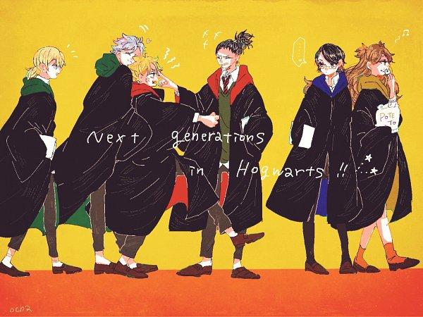 Tags: Anime, Pixiv Id 1777878, BORUTO, NARUTO, Uzumaki Boruto, Mitsuki (NARUTO), Uchiha Sarada, Akimichi Chouchou, Yamanaka Inojin, Nara Shikadai, Harry Potter (Cosplay), Fanart, Fanart From Pixiv