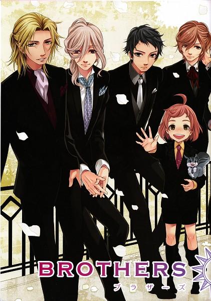 Tags: Anime, Udajo, IDEA FACTORY, BROTHERS CONFLICT, Asahina Kaname, Asahina Wataru, Asahina Louis, Asahina Futo, Asahina Subaru, Official Art, Mobile Wallpaper