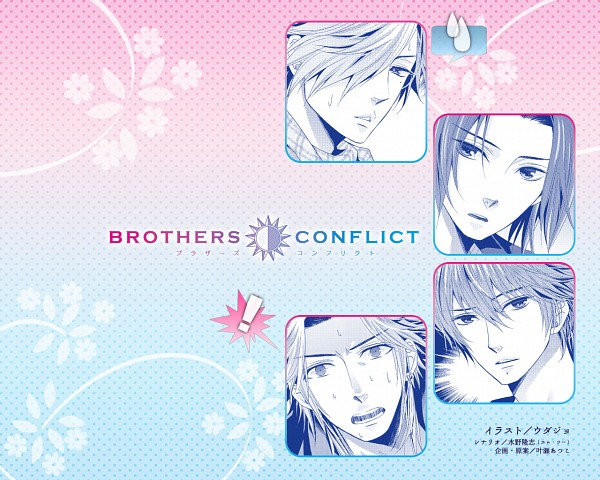 Tags: Anime, IDEA FACTORY, BROTHERS CONFLICT, Asahina Kaname, Asahina Natsume, Asahina Yusuke, Asahina Tsubaki, Wallpaper, Official Art, Official Wallpaper