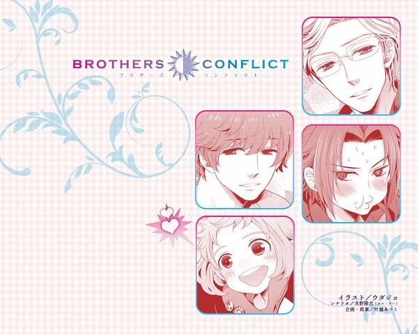 Tags: Anime, IDEA FACTORY, BROTHERS CONFLICT, Asahina Yusuke, Asahina Masaomi, Asahina Wataru, Asahina Ukyo, Wallpaper, Artist Request, Official Art, Official Wallpaper