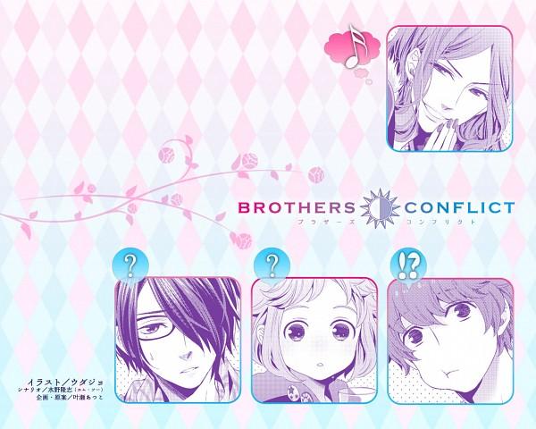Tags: Anime, IDEA FACTORY, BROTHERS CONFLICT, Asahina Masaomi, Asahina Wataru, Asahina Azusa, Asahina Hikaru, Official Art, Official Wallpaper, Wallpaper