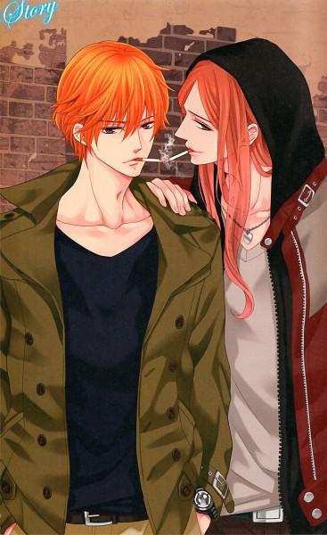 Tags: Anime, Udajo, IDEA FACTORY, BROTHERS CONFLICT, Asahina Natsume, Asahina Hikaru, Scan, Mobile Wallpaper