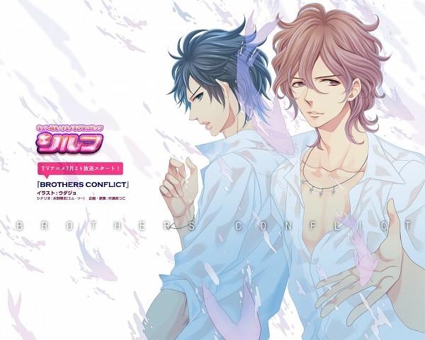Tags: Anime, Udajo, IDEA FACTORY, BROTHERS CONFLICT, Asahina Futo, Asahina Iori, Official Art, Official Wallpaper, Wallpaper