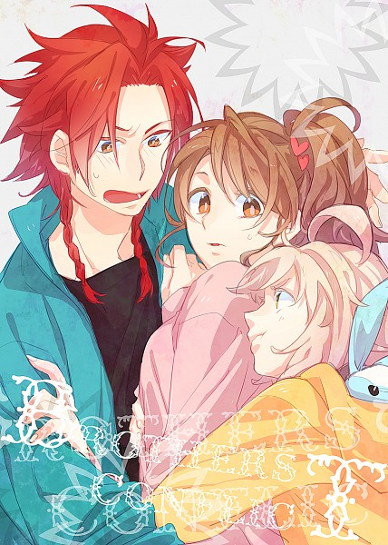Tags: Anime, Pixiv Id 1732404, BROTHERS CONFLICT, Asahina Wataru, Ema (Brothers Conflict), Asahina Yusuke, Heart Hair Ornament, Heart Clip, Mobile Wallpaper, Fanart