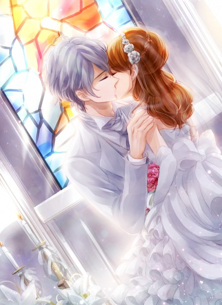 Tags: Anime, Pixiv Id 1576118, BROTHERS CONFLICT, Asahina Iori, Ema (Brothers Conflict), Stained Glass, Mobile Wallpaper, Fanart From Pixiv, Pixiv, Fanart