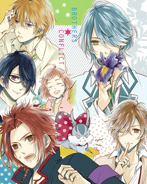 Tags: Anime, Pixiv Id 8240901, BROTHERS CONFLICT, Asahina Wataru, Asahina Natsume, Asahina Iori, Juli (Brothers Conflict), Asahina Azusa, Asahina Futo, Asahina Yusuke, Pixiv, Fanart, Fanart From Pixiv