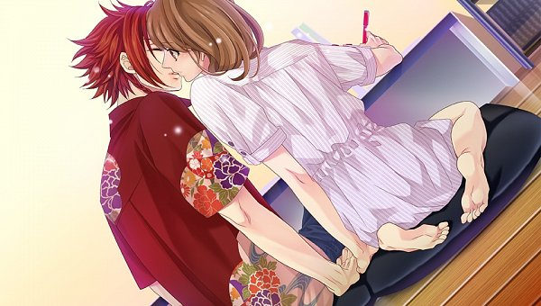Tags: Anime, Udajo, Otomate, IDEA FACTORY, BROTHERS CONFLICT, Asahina Yusuke, Ema (Brothers Conflict), Surprise Kiss, Official Art, CG Art