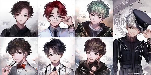 Tags: Anime, kawacy, J-Hope, Suga (BTS), V (BTS), Park Jimin, RM, Jeon Jungkook, Jin (BTS), Magnifying Glass, Edited, K-pop, Pixiv