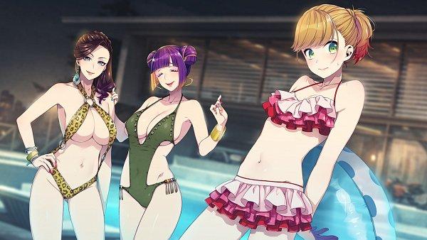 Tags: Anime, Sumeragi Kohaku, BUSTAFELLOWS, Teuta, Valerie (BUSTAFELLOWS), Carmen (BUSTAFELLOWS), Official Art, CG Art