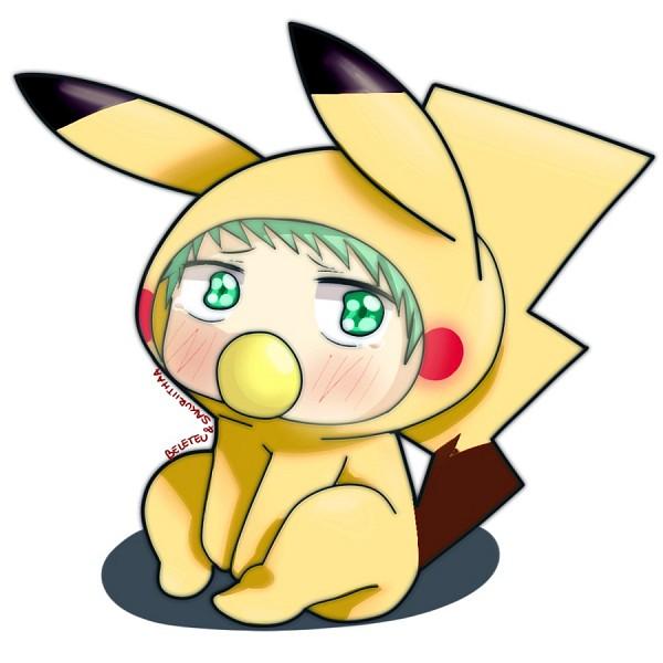Tags: Anime, Beelzebub, Baby Beel, Pikachu (Cosplay), Pokémon (Cosplay), Fanart, Artist Request