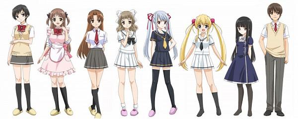 Tags: Anime, Hara Yumiko, Baby Princess, Amatsuka Haruka, Amatsuka Tsurara, Amatsuka Rikka, Amatsuka Urara, Amatsuka Mizore, Amatsuka Hikaru, Youtarou, Amatsuka Hotaru, Official Art