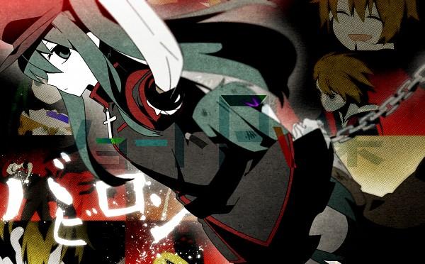 Tags: Anime, Wannyanpu, VOCALOID, Hatsune Miku, Babylon (Song)