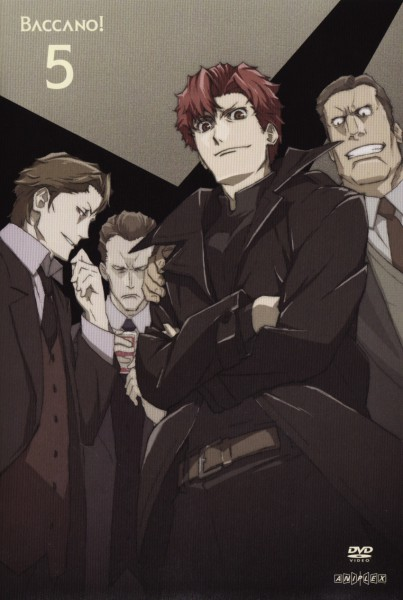 Tags: Anime, Baccano!, Berga Gandor, Keith Gandor, Luck Gandor, Claire Stanfield, Mafia, Scan, Mobile Wallpaper, Official Art