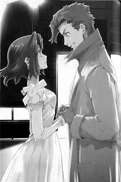 Tags: Anime, Enami Katsumi, Baccano!, Chane Laforet, Claire Stanfield, Trench Coat, Novel Illustration, Scan, Official Art, Mobile Wallpaper