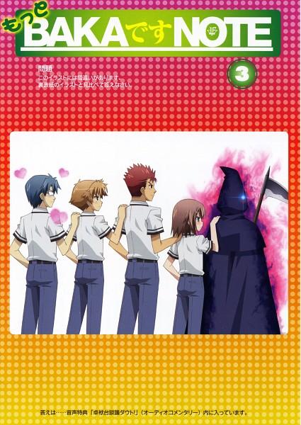 Tags: Anime, Silver Link, Baka to Test to Shokanju, Kubo Toshimitsu, Yoshii Akihisa, Sakamoto Yuuji, Kinoshita Hideyoshi, Mobile Wallpaper, Official Art,  Baka And Test: Summon The Beasts