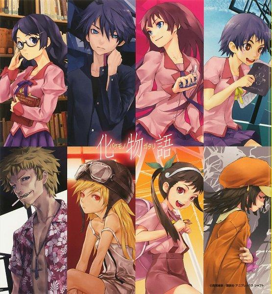 Tags: Anime, Monogatari, Bakemonogatari, Oshino Meme, Araragi Koyomi, Kanbaru Suruga, Oshino Shinobu, Hanekawa Tsubasa, Sengoku Nadeko, Hachikuji Mayoi, Senjougahara Hitagi